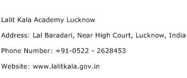 Lalit Kala Academy Lucknow Address Contact Number