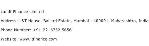 Landt Finance Limited Address Contact Number