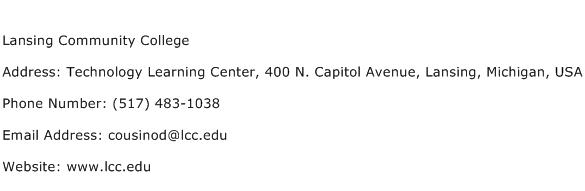 Lansing Community College Address Contact Number