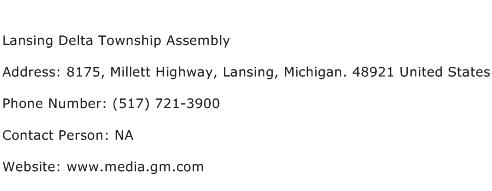 Lansing Delta Township Assembly Address Contact Number