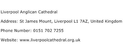 Liverpool Anglican Cathedral Address Contact Number