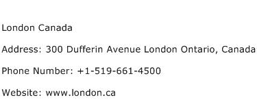 London Canada Address Contact Number