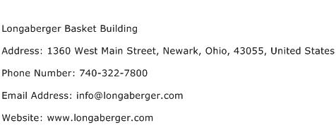 Longaberger Basket Building Address Contact Number