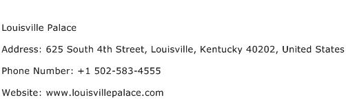 Louisville Palace Address Contact Number