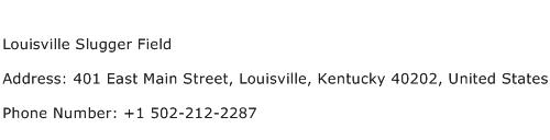 Louisville Slugger Field Address Contact Number
