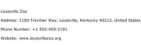 Louisville Zoo Address Contact Number