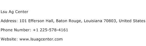 Lsu Ag Center Address Contact Number