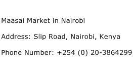 Maasai Market in Nairobi Address Contact Number
