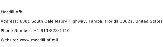 Macdill Afb Address Contact Number