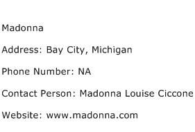 Madonna Address Contact Number