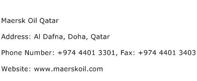 Maersk Oil Qatar Address Contact Number