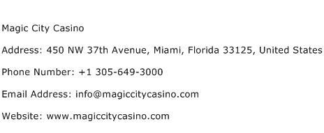 Magic City Casino Address Contact Number