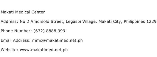 Makati Medical Center Address Contact Number