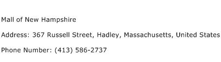 Mall of New Hampshire Address Contact Number