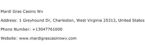 Mardi Gras Casino Wv Address Contact Number
