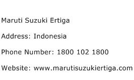 Maruti Suzuki Ertiga Address Contact Number