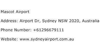 Mascot Airport Address Contact Number