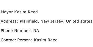 Mayor Kasim Reed Address Contact Number
