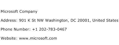 Microsoft Company Address Contact Number