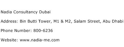 Nadia Consultancy Dubai Address Contact Number