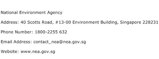 National Environment Agency Address Contact Number