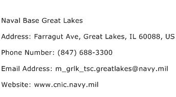 Naval Base Great Lakes Address Contact Number