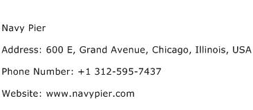 Navy Pier Address Contact Number