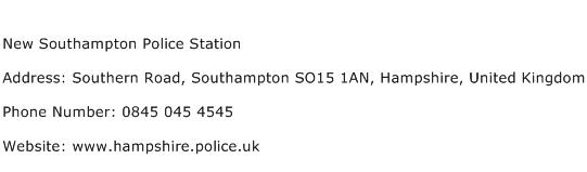 New Southampton Police Station Address Contact Number
