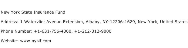 New York State Insurance Fund Address, Contact Number of ...