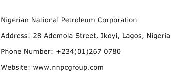 Nigerian National Petroleum Corporation Address Contact Number