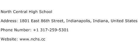 North Central High School Address Contact Number