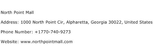 North Point Mall Address Contact Number