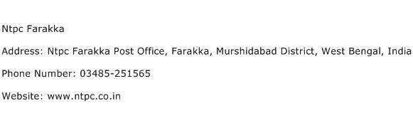 Ntpc Farakka Address Contact Number