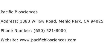 Pacific Biosciences Address Contact Number
