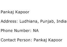 Pankaj Kapoor Address Contact Number