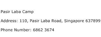 Pasir Laba Camp Address Contact Number