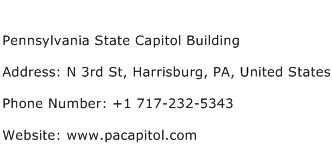 Pennsylvania State Capitol Building Address Contact Number