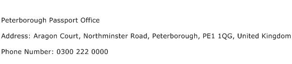 Peterborough Passport Office Address Contact Number