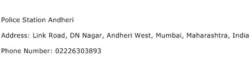 Police Station Andheri Address Contact Number