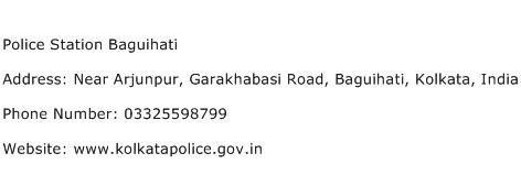 Police Station Baguihati Address Contact Number