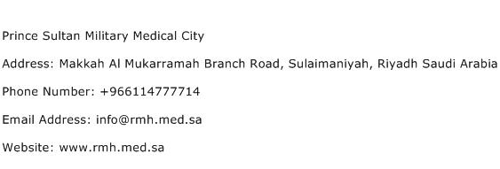 Prince Sultan Military Medical City Address Contact Number