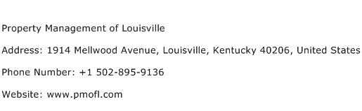 Property Management of Louisville Address Contact Number