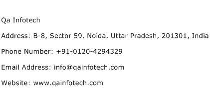 Qa Infotech Address Contact Number
