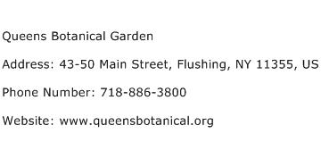 Queens Botanical Garden Address Contact Number