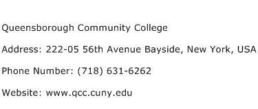 Queensborough Community College Address Contact Number