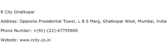 R City Ghatkopar Address Contact Number