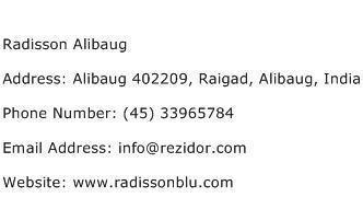Radisson Alibaug Address Contact Number