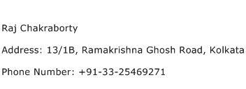 Raj Chakraborty Address Contact Number