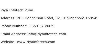 Riya Infotech Pune Address Contact Number