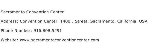 Sacramento Convention Center Address Contact Number
